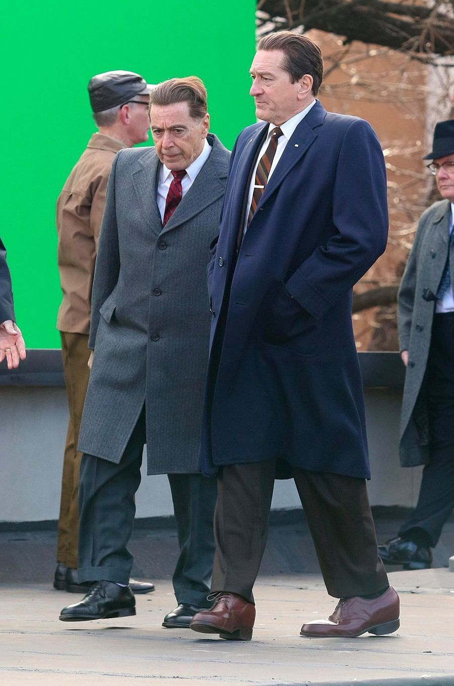 Al Pacino et Robert de Niro sur le tournage du prochain film de Martin Scorsese
