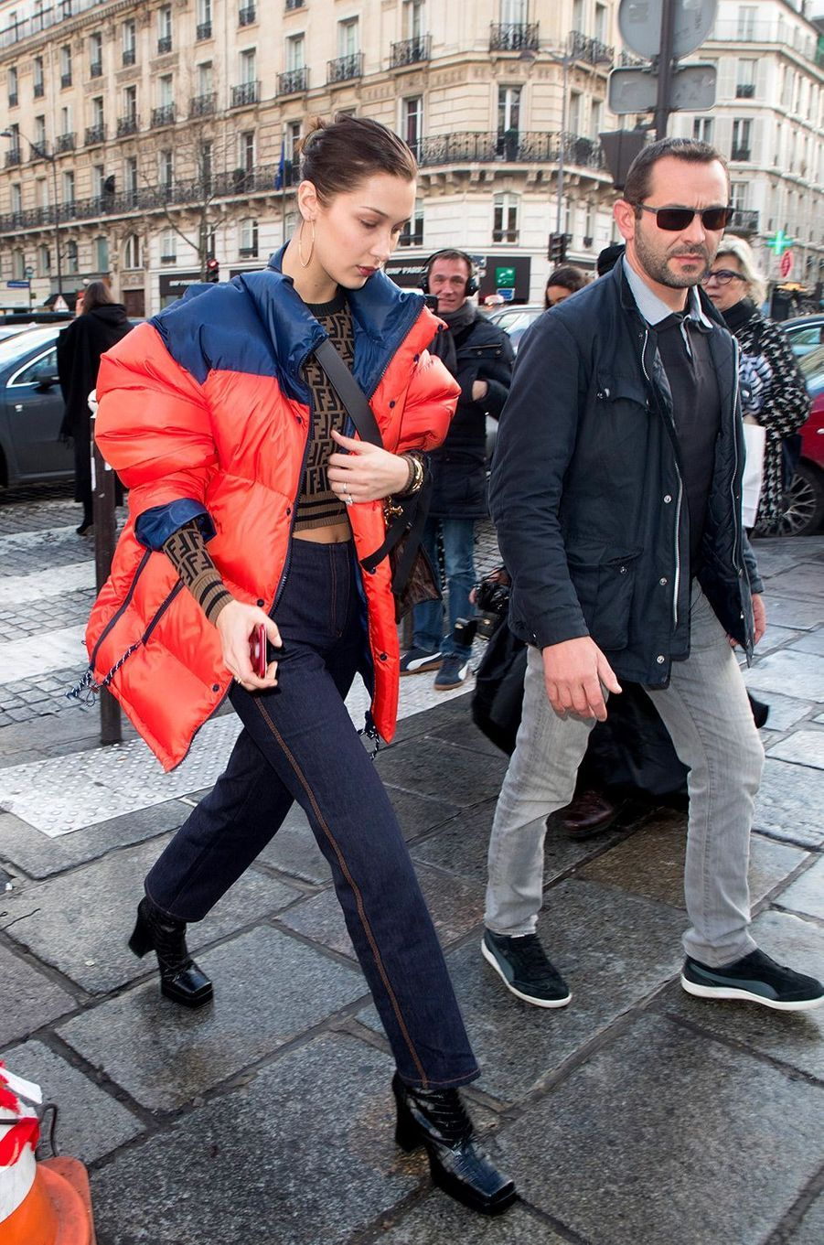 Bella Hadid à Paris pour la Fashion Week