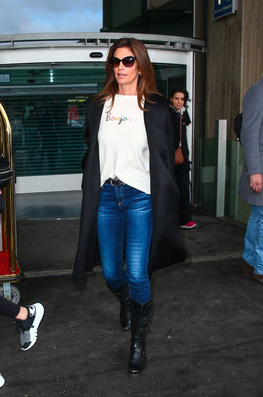 Cindy Crawford à Paris pour la Fashion Week