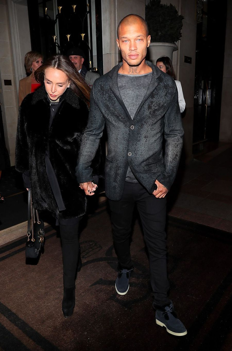 Jeremy Meeks et Chloé Green à Paris pour la Fashion Week