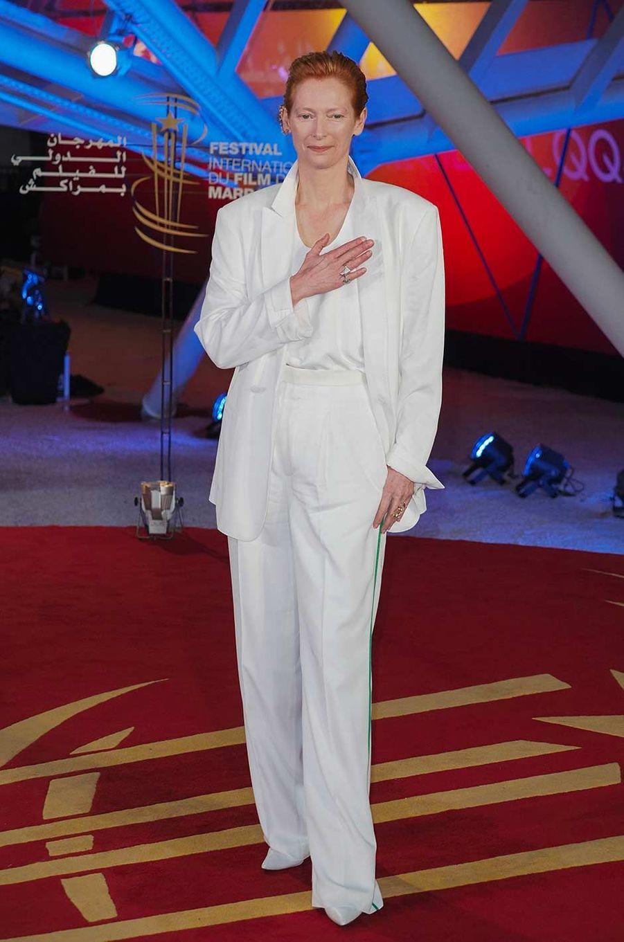 Tilda Swintonau Festival du film de Marrakech, le 6 décembre 2019.
