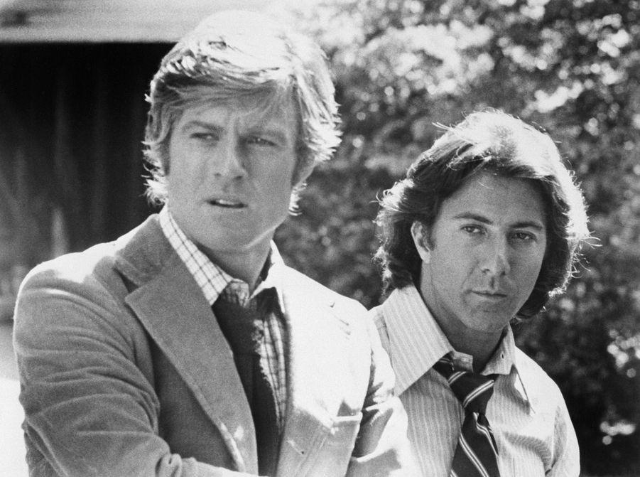 """Robert Redford et Dustin Hoffman dans """"Les Hommes du président"""", 1976"""