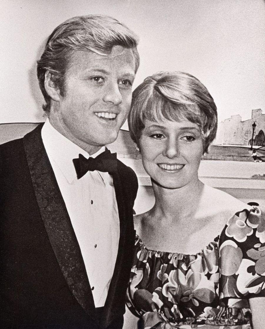 Robert Redford avec sa première épouse Lola en 1967