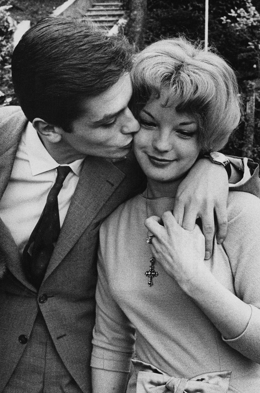 Romy Schneider avec Alain Delon en 1959.