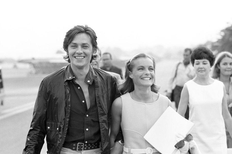 Romy et Alain Delon en 1968.