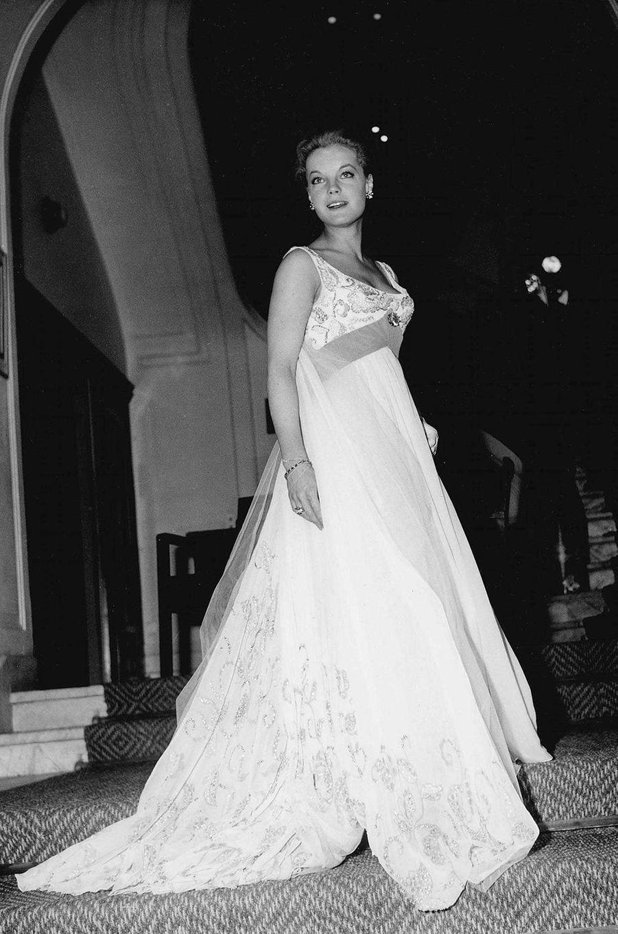 Romy Schneider au festival de Cannes en 1959.