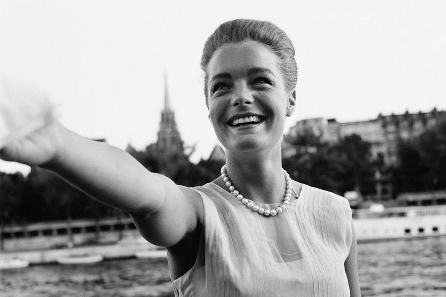 Romy Schneider à Paris en 1962.