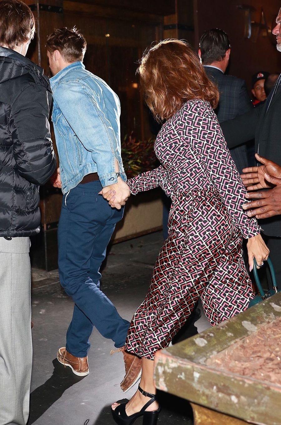 Ryan Gosling et Eva Mendes à New York, le 1er octobre 2017.