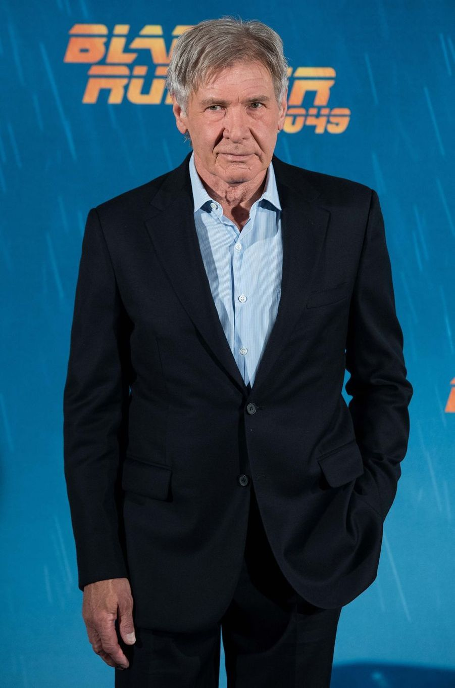 "Harrison Ford au photocall de ""Blade Runner 2049"", à Madrid le 19 septembre 2017."