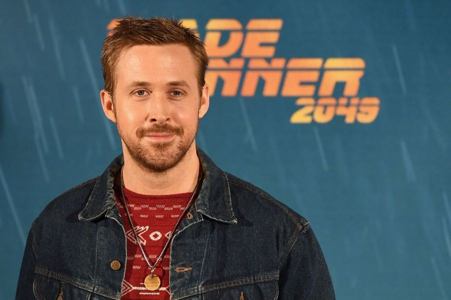 "Ryan Gosling au photocall de ""Blade Runner 2049"", à Madrid le 19 septembre 2017."