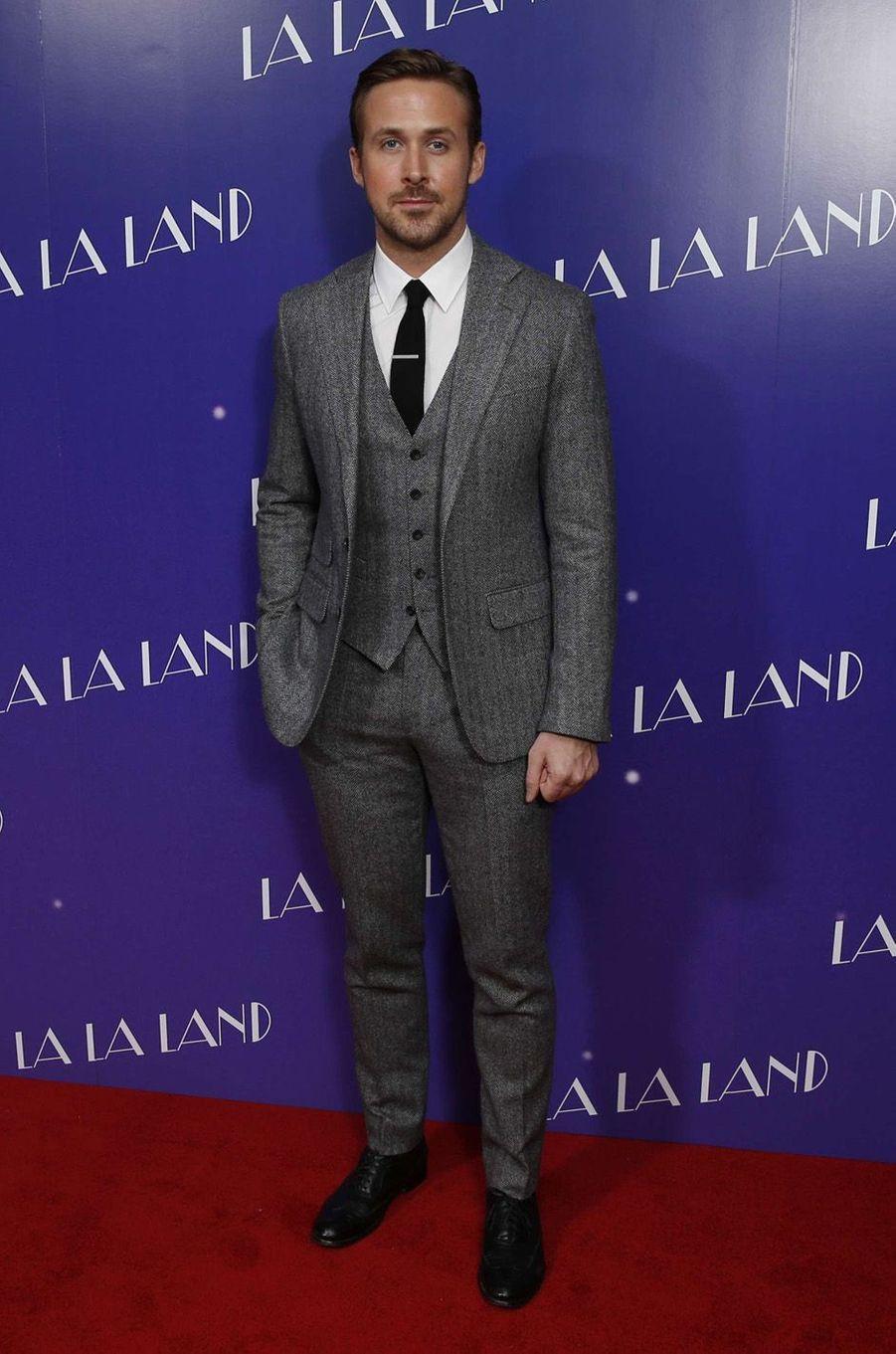 Ryan Gosling à Londres, le 12 janvier 2017.