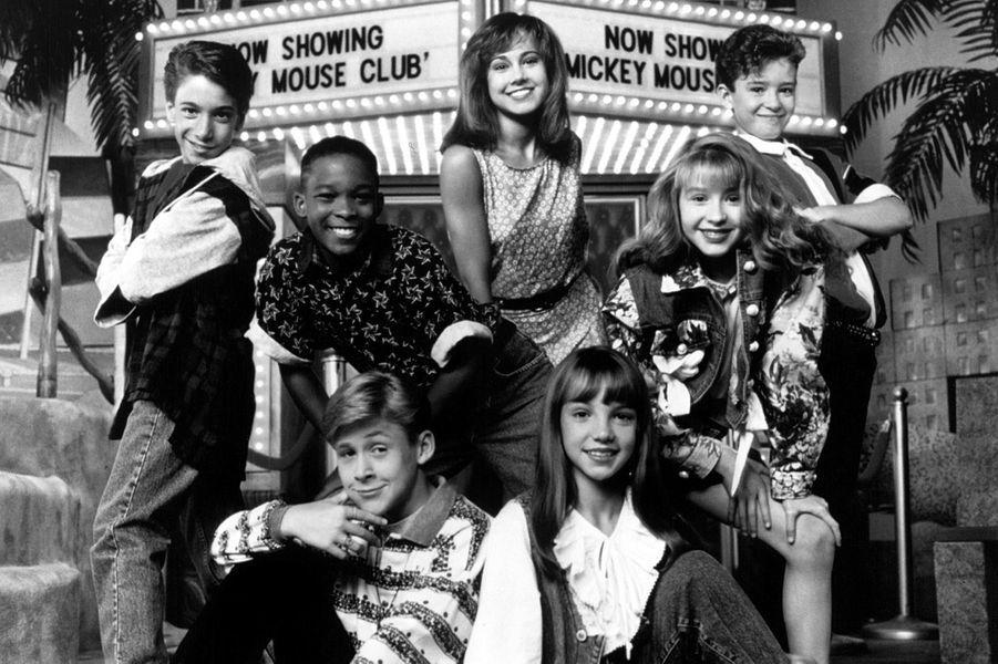 "Ryan Gosling avec ses amis du ""Mickey Mouse Club"", en 1993."