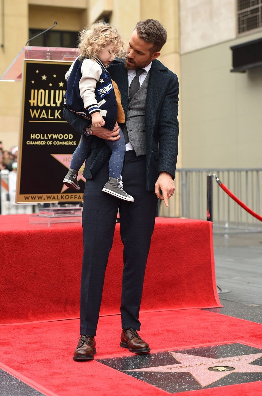 Ryan Reynolds et sa fille James (2 ans)