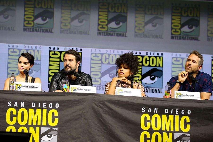 "Ryan Reynolds et les acteurs de ""Deadpool 2"" au Comic-Con de San Diego"