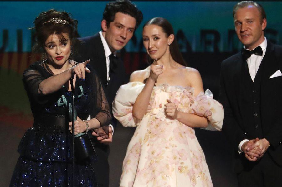 """Helena Bonham Carter, Josh O'Connor, Erin Doherty de """"The Crown"""""""