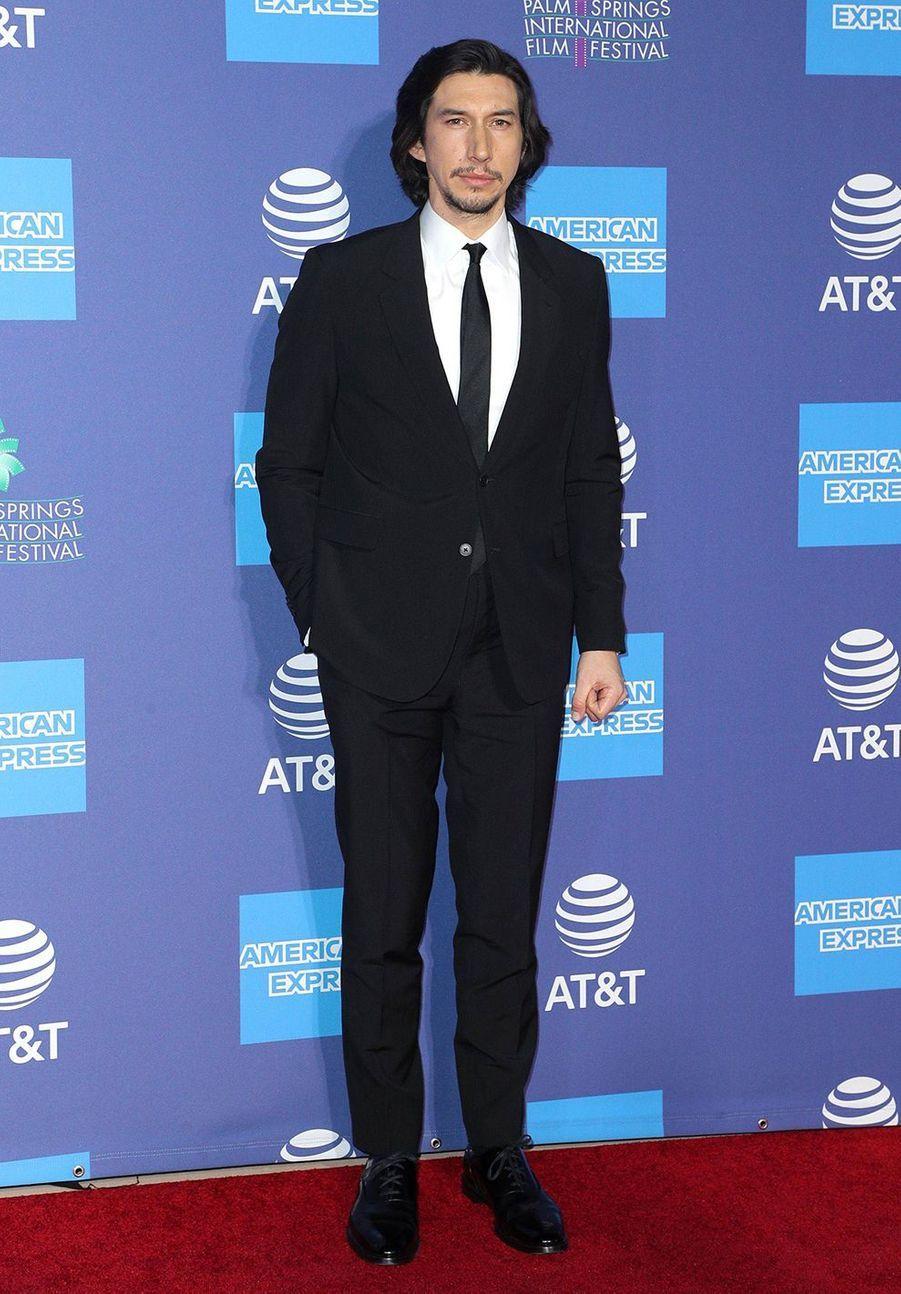 Adam Driver au Palm Springs International Film Festival, le 2 janvier 2020.