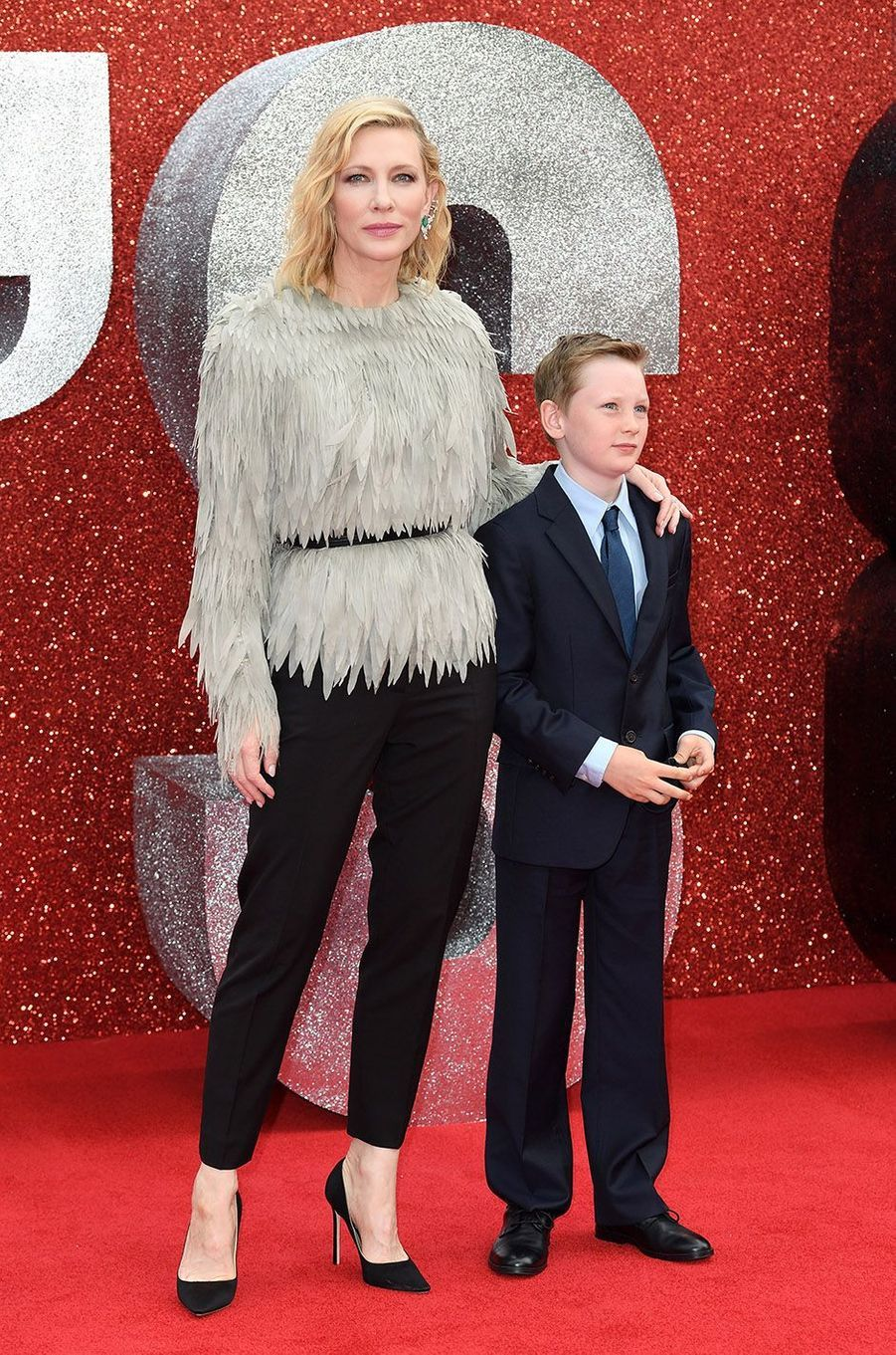 Cate Blanchett et son fils Ignatius à Londres, le 13 juin 2018.