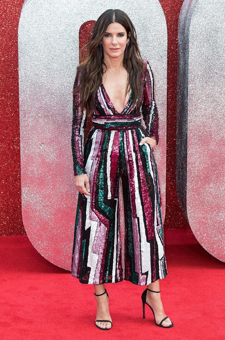 Sandra Bullock à Londres, le 13 juin 2018.