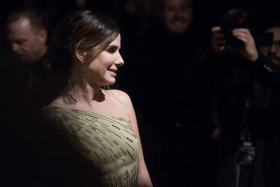 "Sandra Bullock à l'avant première de ""Bird Box"" à Berlin, mardi 27 novembre"