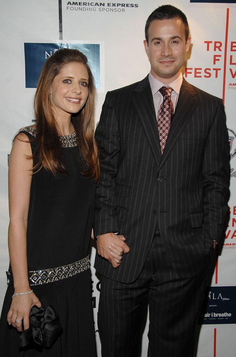 Sarah Michelle Gellar et Freddie Prinze Jr. au Festival du film de Tribeca à New York en avril 2007