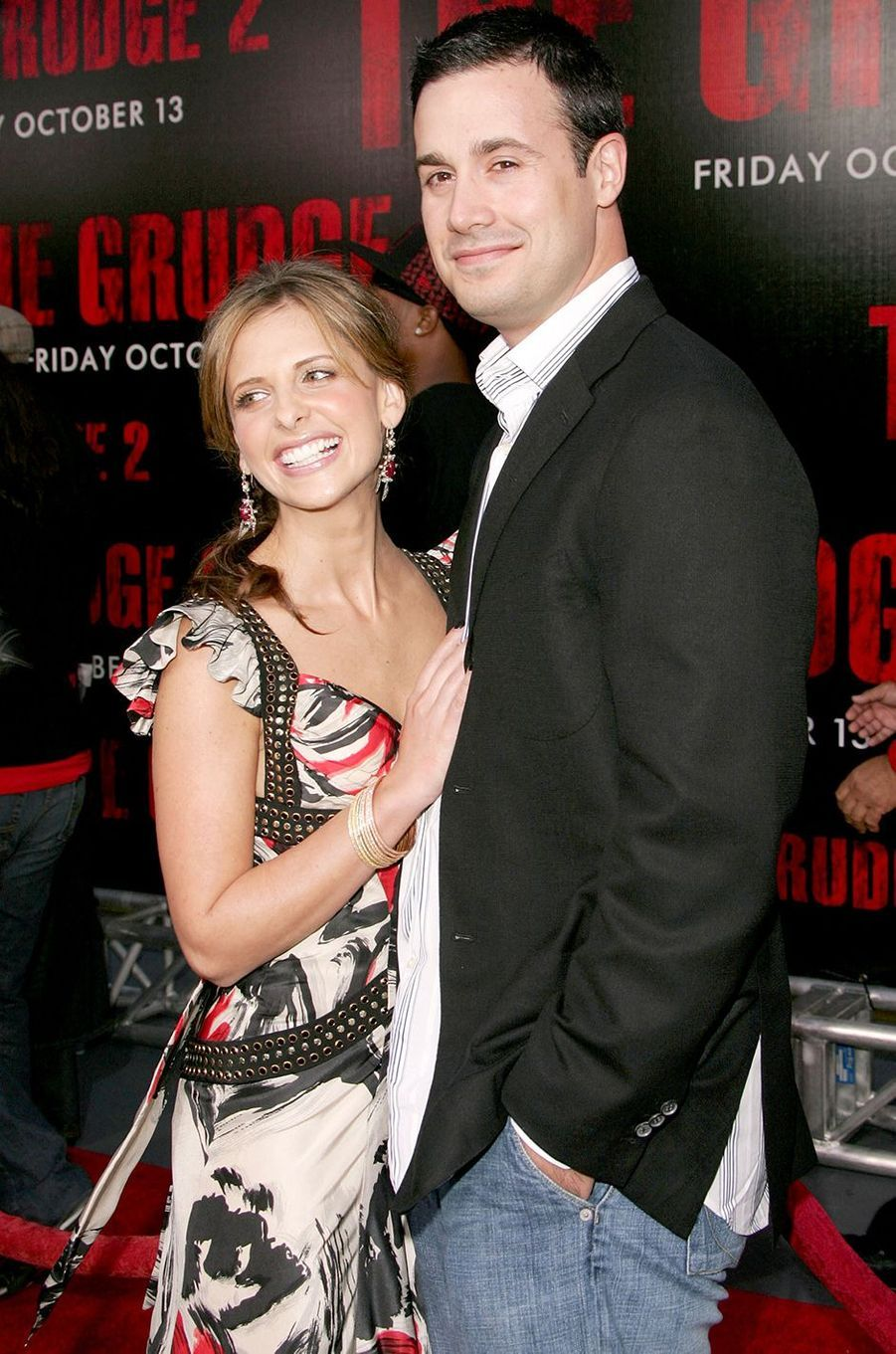 Sarah Michelle Gellar et Freddie Prinze Jr. à la première du film «The Grudge 2» à Buena Park en octobre 2006