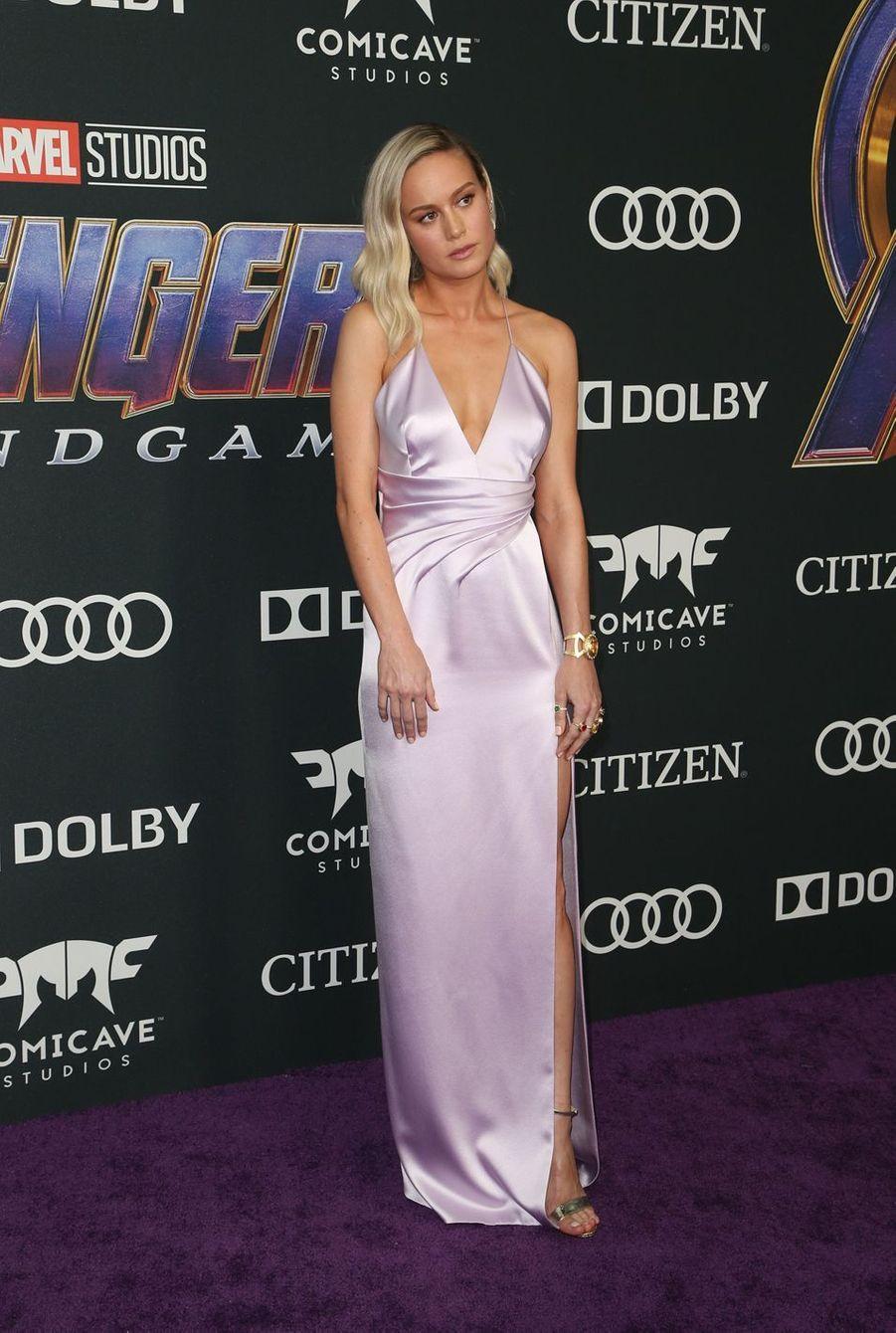 Brie Larsonà l'avant-première d'«Avengers : Endgame» à Los Angeles le 22 avril 2019