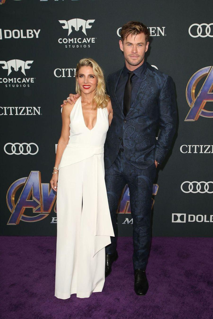 Chris Hemsworth et Elsa Patakià l'avant-première d'«Avengers : Endgame» à Los Angeles le 22 avril 2019