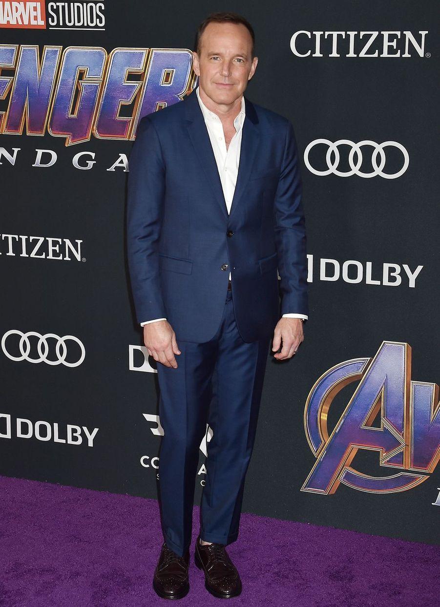 Clark Greggà l'avant-première d'«Avengers : Endgame» à Los Angeles le 22 avril 2019