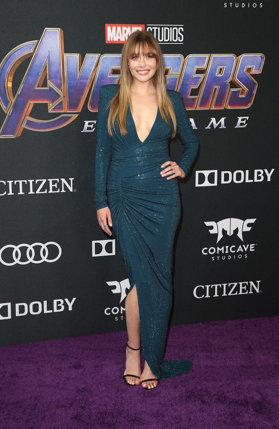 Elizabeth Olsenà l'avant-première d'«Avengers : Endgame» à Los Angeles le 22 avril 2019