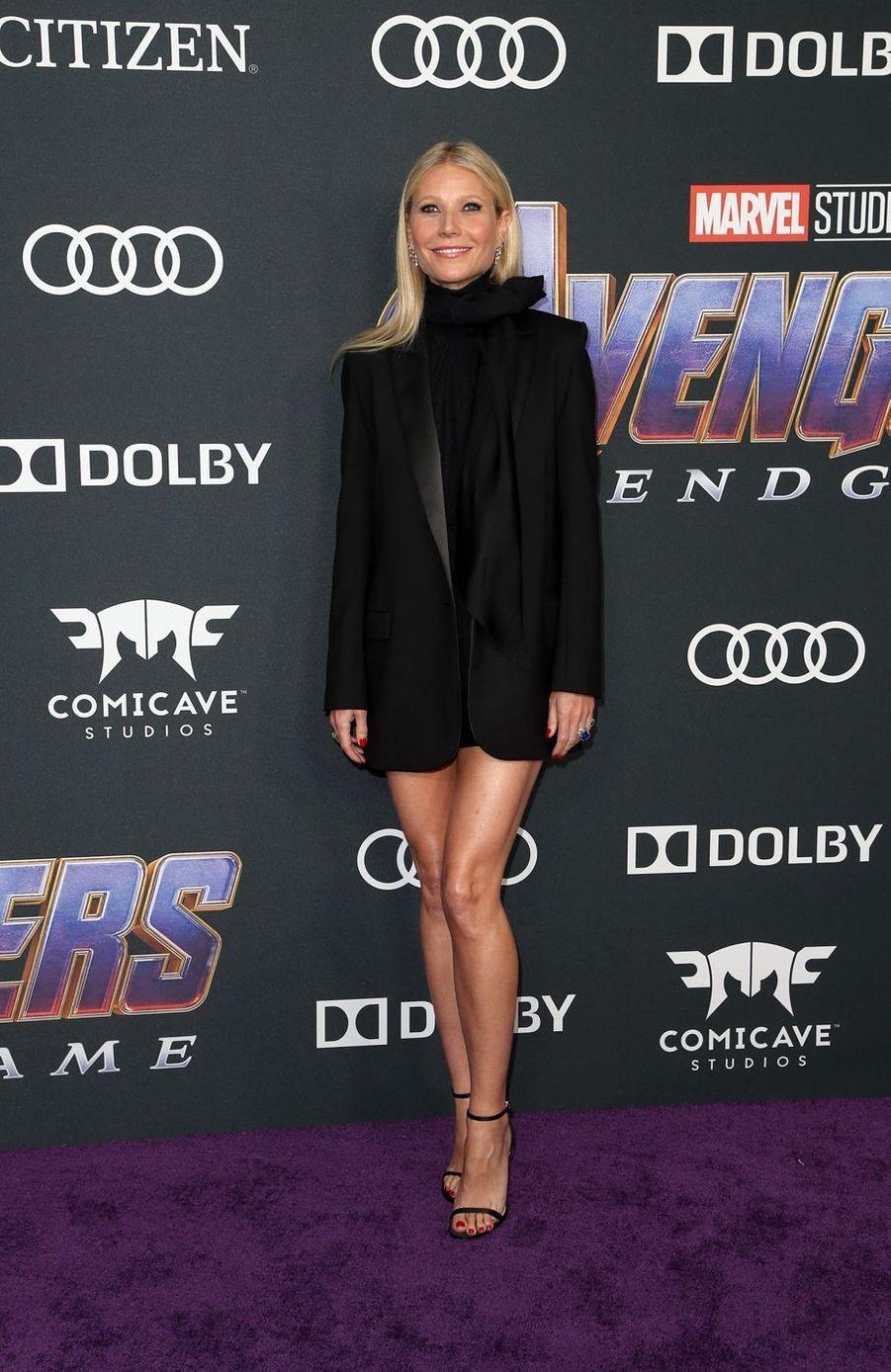Gwyneth Paltrowà l'avant-première d'«Avengers : Endgame» à Los Angeles le 22 avril 2019