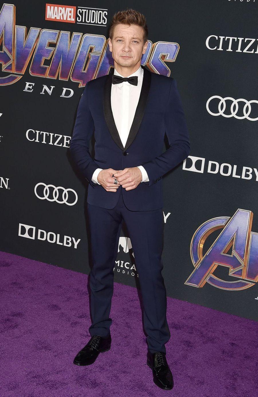 Jeremy Rennerà l'avant-première d'«Avengers : Endgame» à Los Angeles le 22 avril 2019