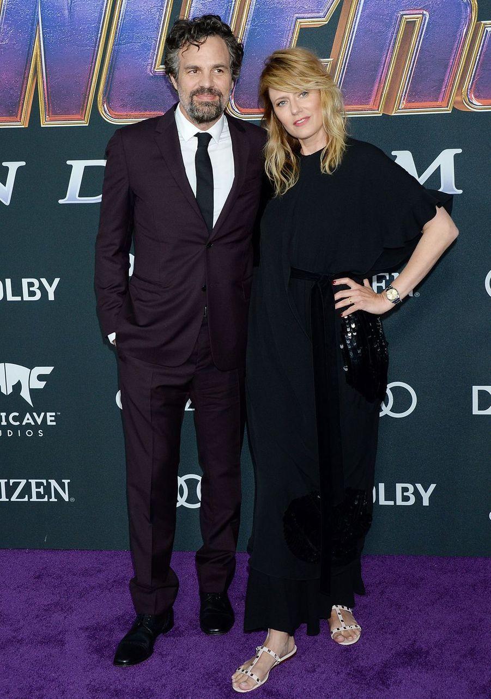Mark Ruffalo et son épouse Sunrise Coigneyà l'avant-première d'«Avengers : Endgame» à Los Angeles le 22 avril 2019