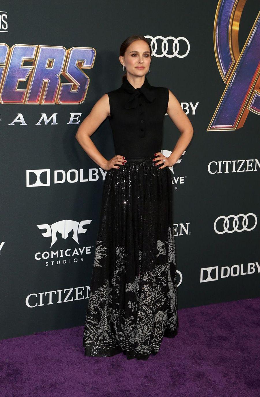Natalie Portmanà l'avant-première d'«Avengers : Endgame» à Los Angeles le 22 avril 2019