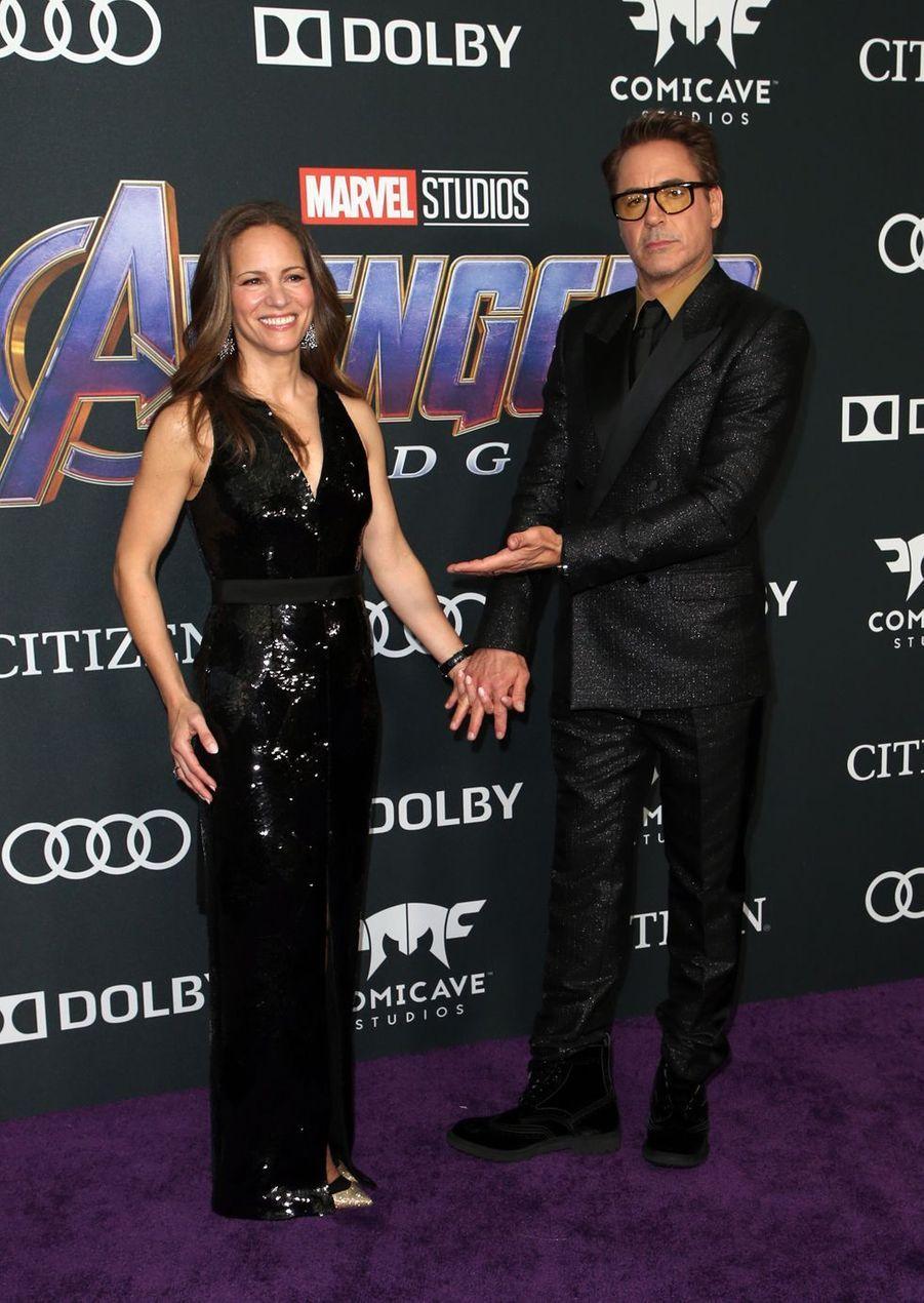 Robert Downey Jr. et sa femme Susanà l'avant-première d'«Avengers : Endgame» à Los Angeles le 22 avril 2019