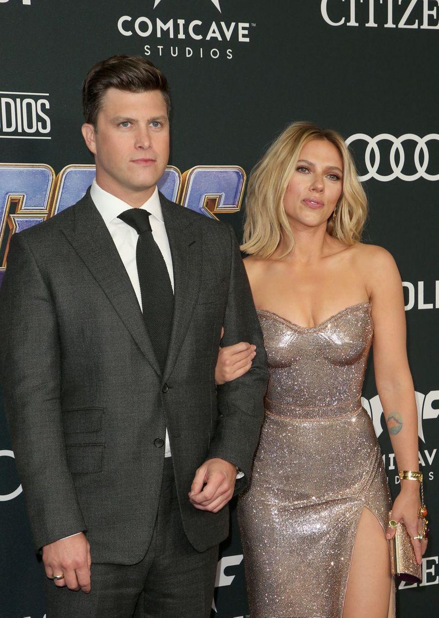 Scarlett Johansson et son compagnon Colin Jostà l'avant-première d'«Avengers : Endgame» à Los Angeles le 22 avril 2019