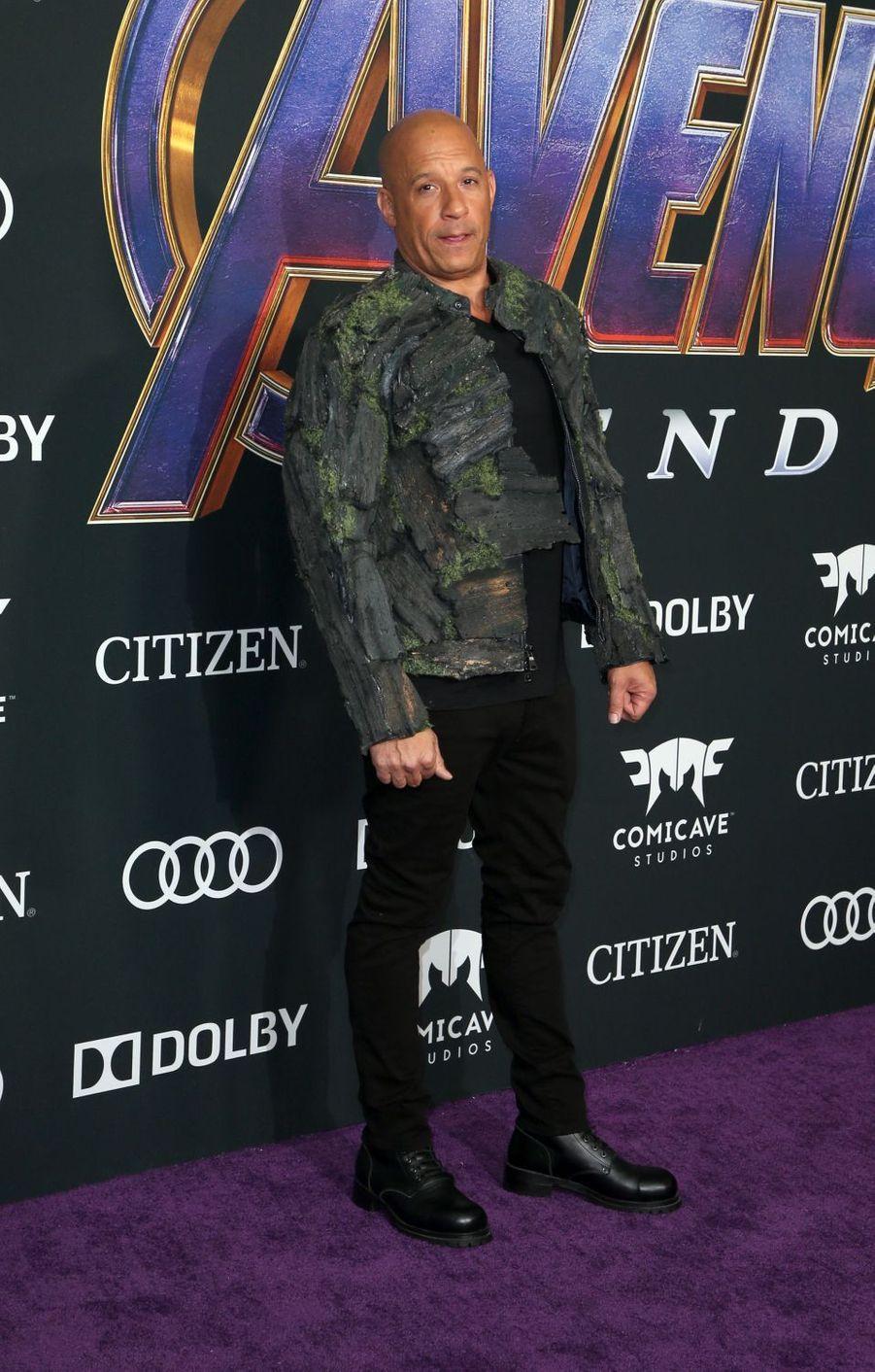 Vin Dieselà l'avant-première d'«Avengers : Endgame» à Los Angeles le 22 avril 2019