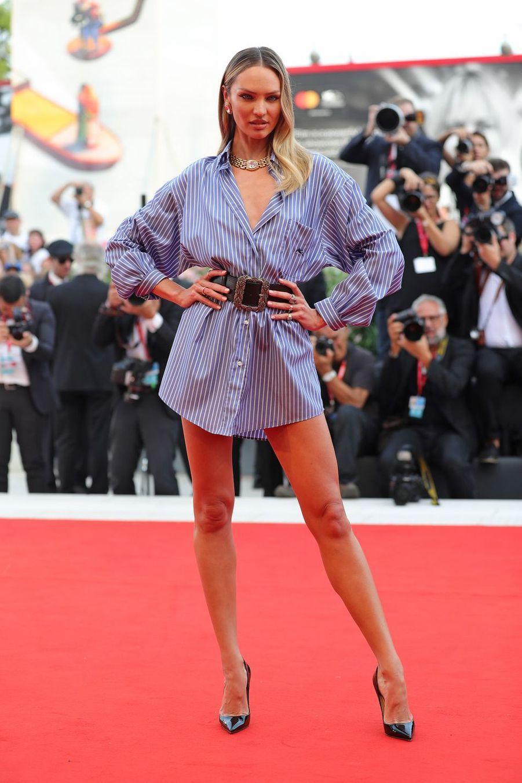 Candice Swanepoelà la première du film «Marriage Story» lors de la 76e édition de la Mostra de Venise le 29 août 2019
