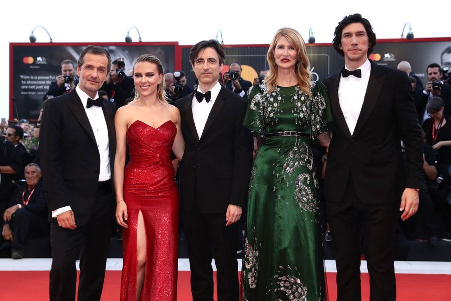 Le producteur David Heyman, Scarlett Johansson, le réalisateur Noah Baumbach, Laura Dern et Adam Driverà la première de leur film «Marriage Story» lors de la 76e édition de la Mostra de Venise le 29 août 2019