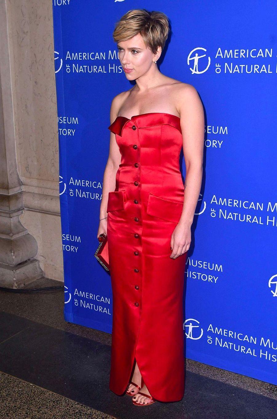 Scarlett Johansson au gala de l'American Museum of Natural History, à New York, le 30 novembre 2017