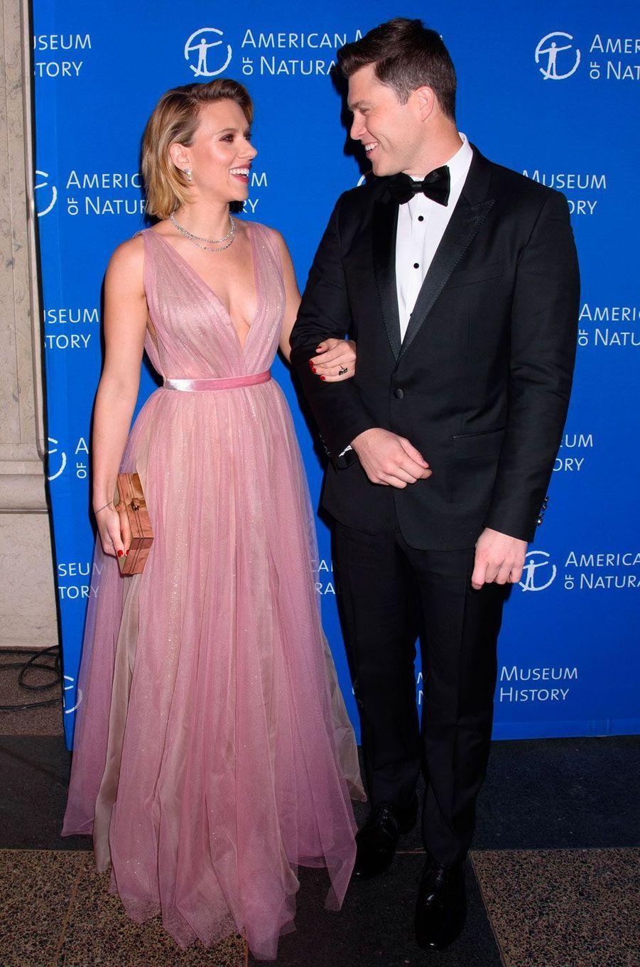 Scarlett Johansson et Colin Jost au gala de l'American Museum of Natural History le 15 novembre 2018