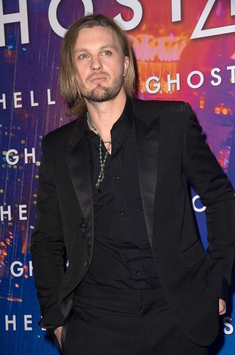 """Michael Pitt à Paris pour """"Ghost in the Shell"""", le 21 mars 2017."""