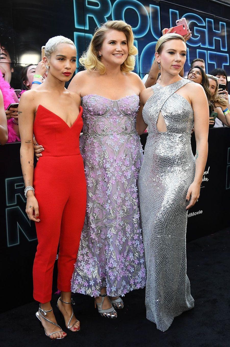 Zoe Kravitz, Jillian Bell et Scarlett Johansson.