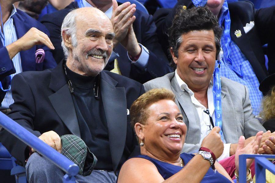 Sean Connery pendant son ovation à l'US Open à New York, le 29 août 2017.