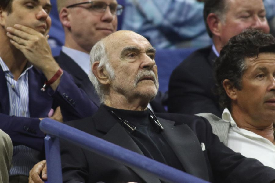 Sean Connery à l'US Open à New York, le 29 août 2017.