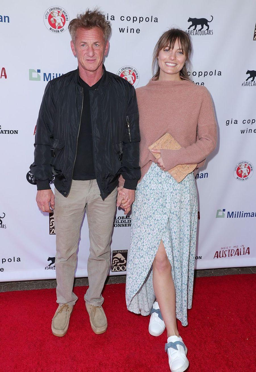 Sean Penn et Leila George au gala «Australia Wildfire Relief Efforts» au zoo de Los Angeles le 8 mars 2020
