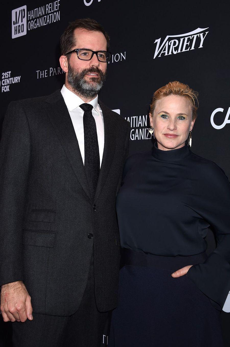 Patricia Arquette et son mariau gala de la J/P Haitian Relief Organization, la fondation de Sean Penn, à Beverly Hills, le 7 janvier 2017.
