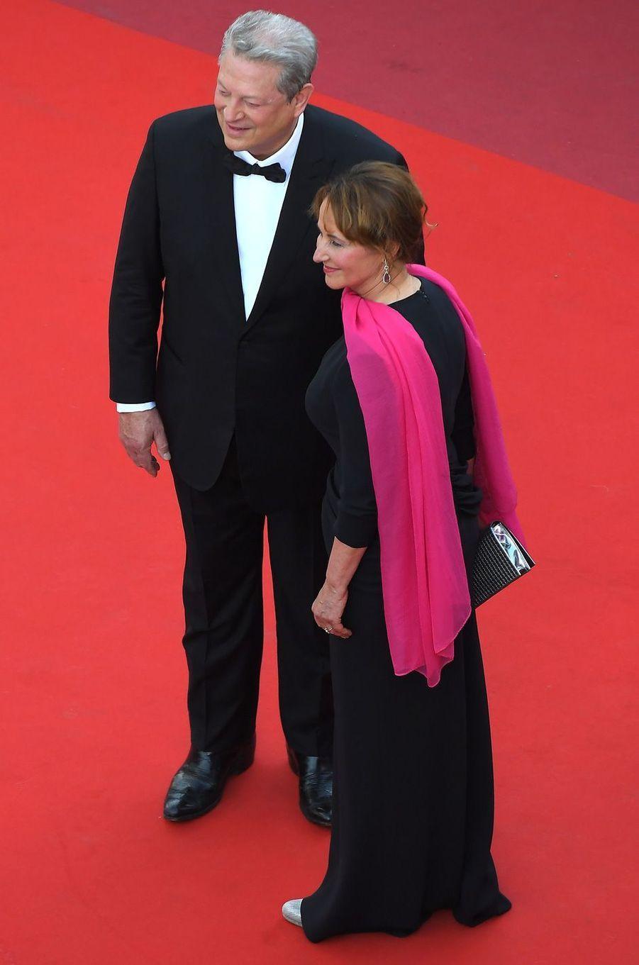 Ségolène Royal et Al Gore au festival de Cannes.