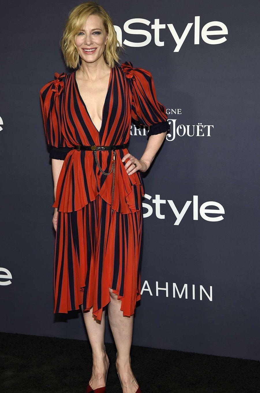 Cate Blanchett lors des InStyle Awards, à Los Angeles, le 23 octobre 2017.