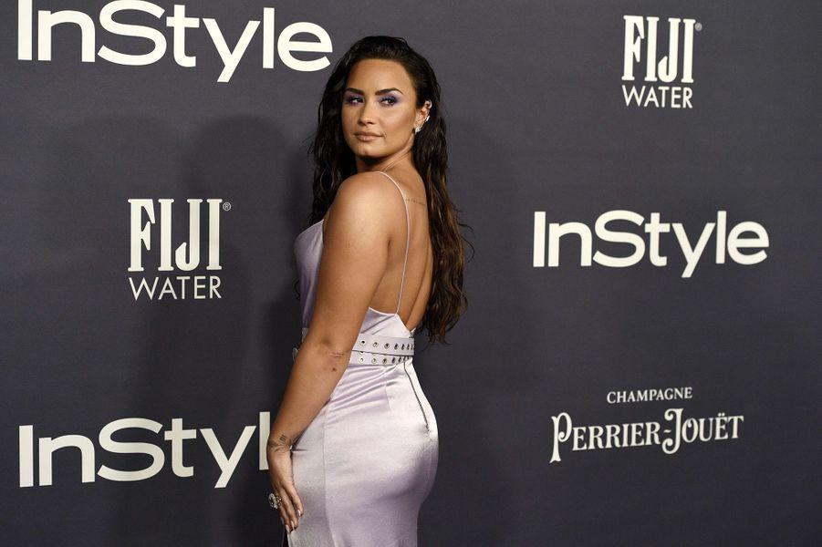 Demi Lovato lors des InStyle Awards, à Los Angeles, le 23 octobre 2017.