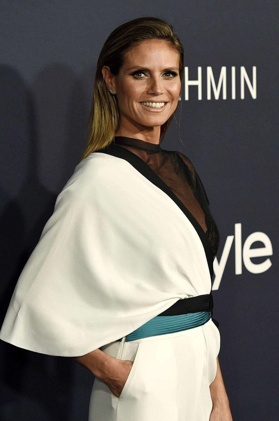 Heidi Klum lors des InStyle Awards, à Los Angeles, le 23 octobre 2017.